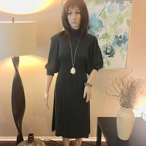 Max Studio Turtleneck Medium Weight Sweater Dress